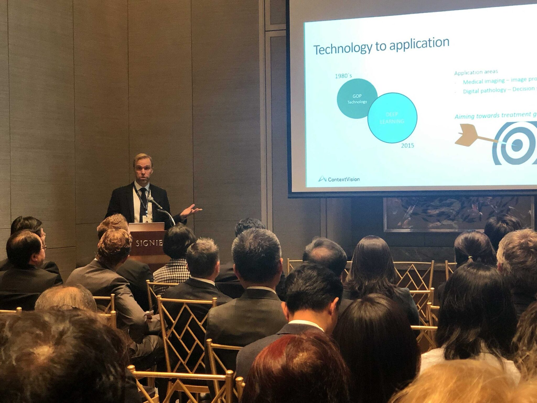ContextVision's CEO Fredrik Palm discuss innovation around AI-powered diagnostic imaging and digital pathology at Sweden Korea Business Summit